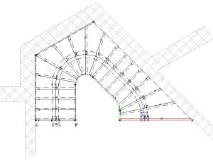 Výstupní čára schodiště